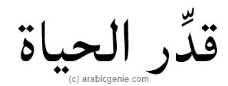 Appreciate Life in Arabic