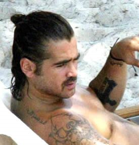 Colin Farrell's Arabic Tattoo